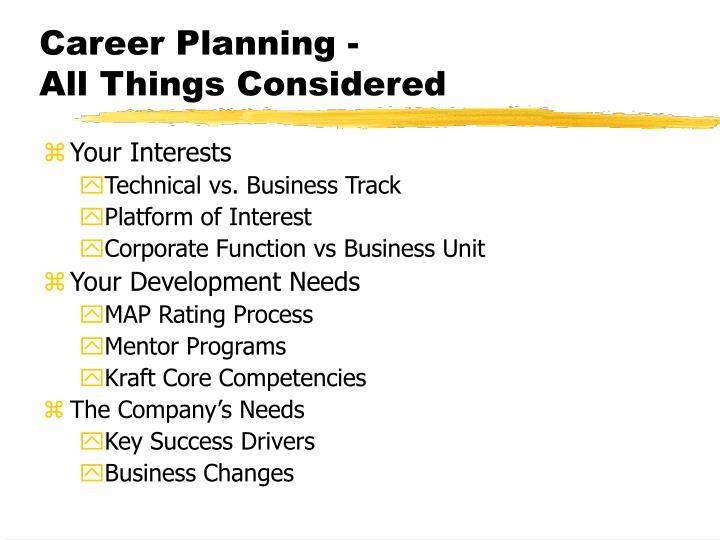 Career Planning -
