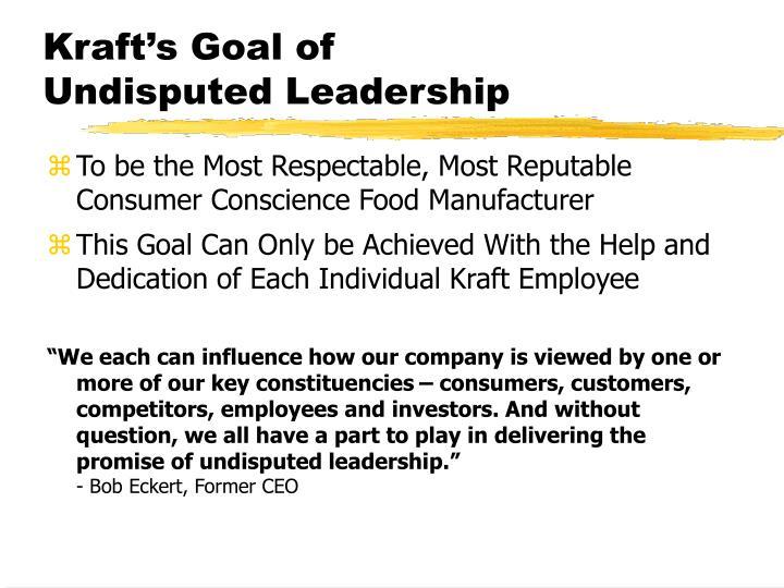 Kraft's Goal of