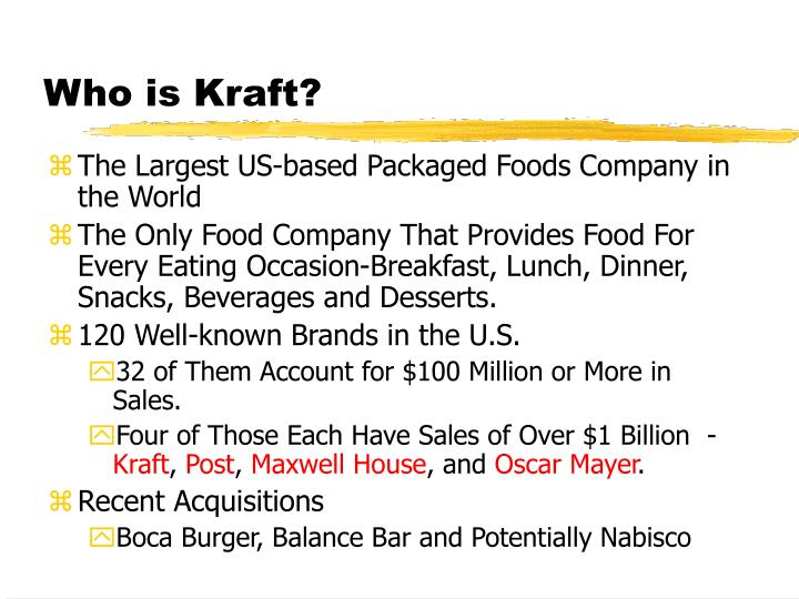 Who is kraft