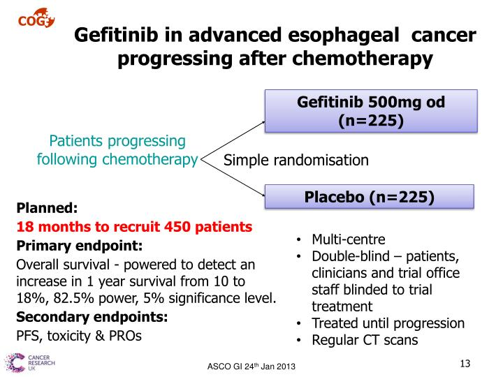 Gefitinib in advanced esophageal  cancer progressing after chemotherapy
