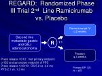 regard randomized phase iii trial 2 nd line ramicirumab vs placebo