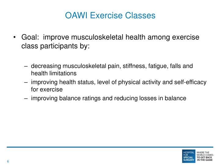 OAWI Exercise Classes