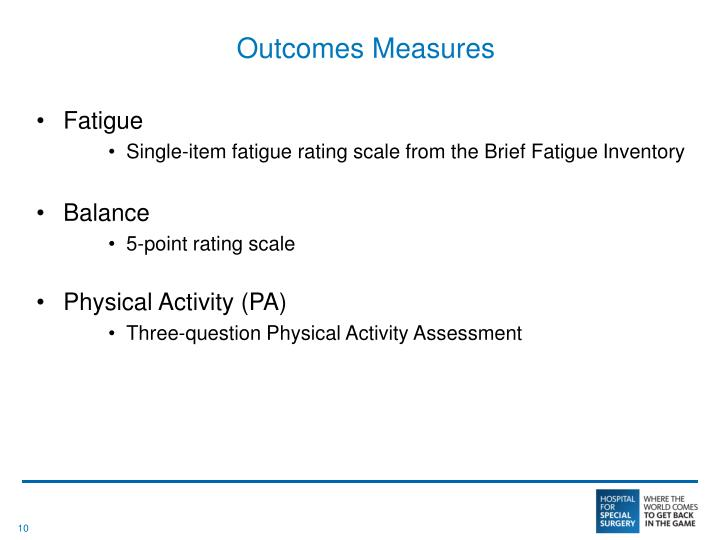 Outcomes Measures