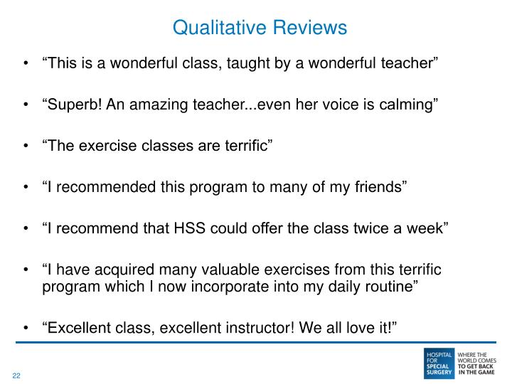 Qualitative Reviews
