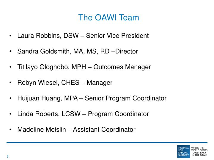 The OAWI Team