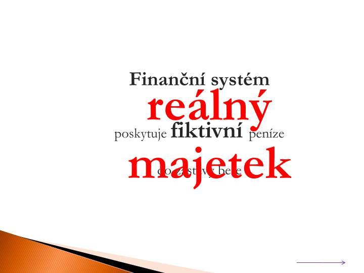 Finanční systém