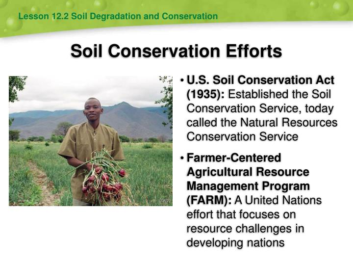 Ppt soil and agriculture powerpoint presentation id for Soil conservation act