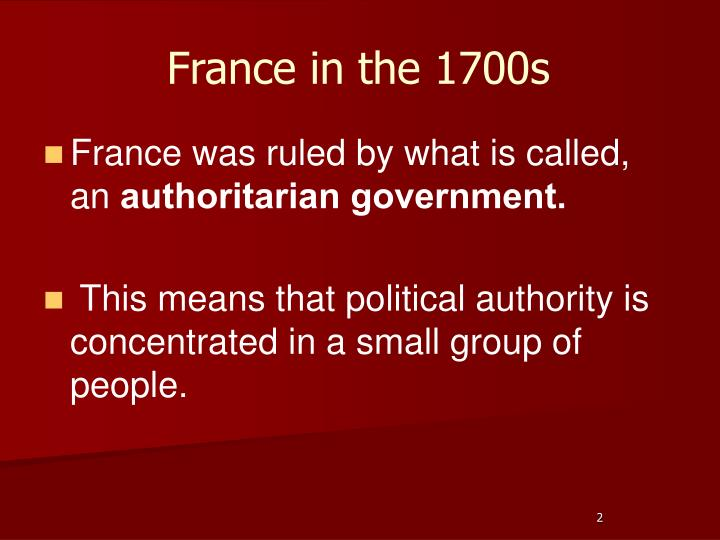 France in the 1700s