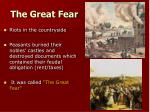 the great fear