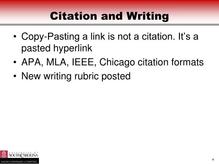 Citation and Writing