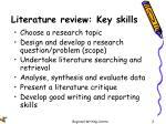 literature review key skills