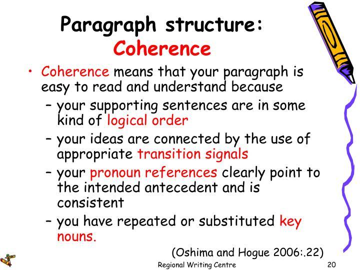 Paragraph structure: