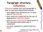 paragraph structure coherence