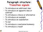 paragraph structure transition signals1