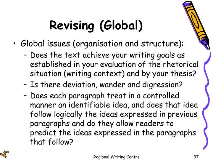 Revising (Global)