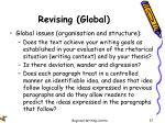 revising global