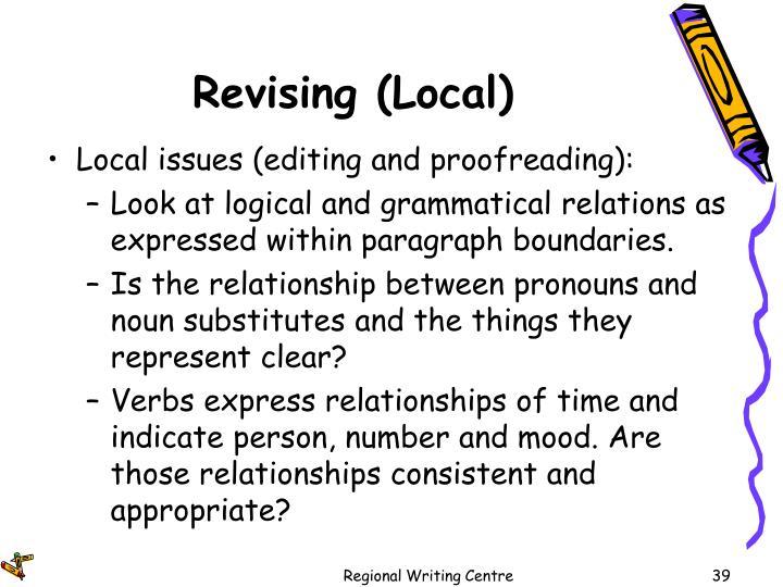 Revising (Local)
