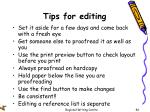 tips for editing
