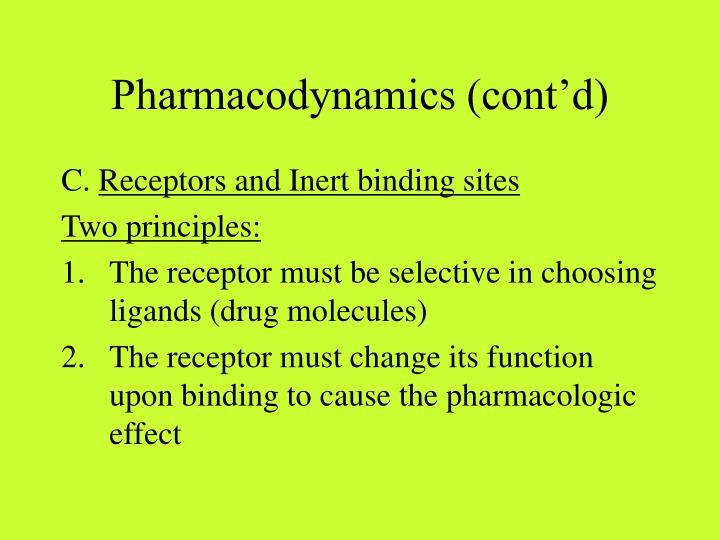 Pharmacodynamics (cont'd)