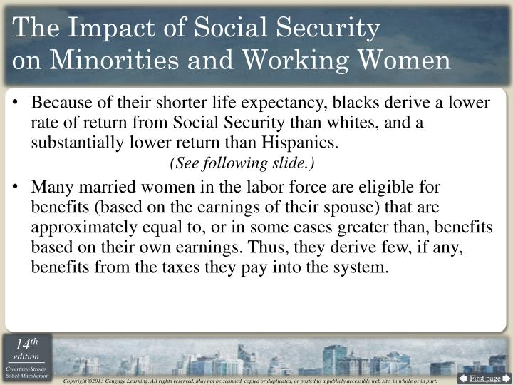 The Impact of Social Security