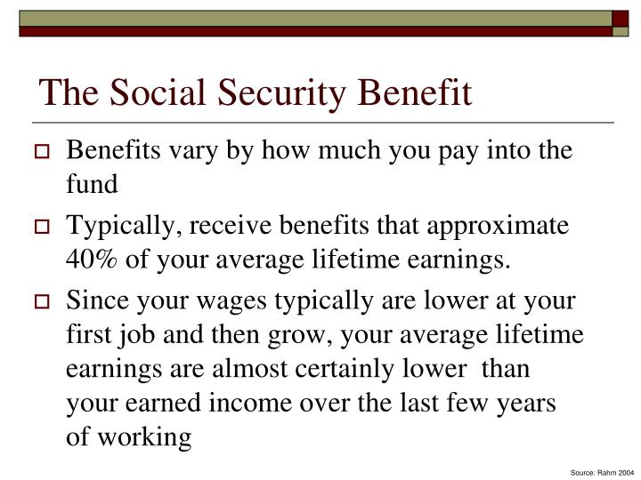 The Social Security Benefit