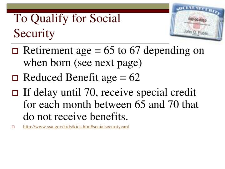 To Qualify for Social Security