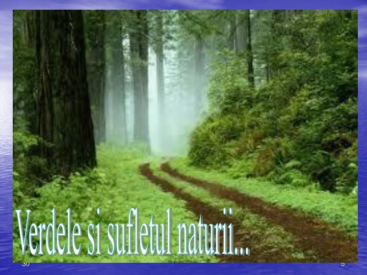 Verdele si sufletul naturii...