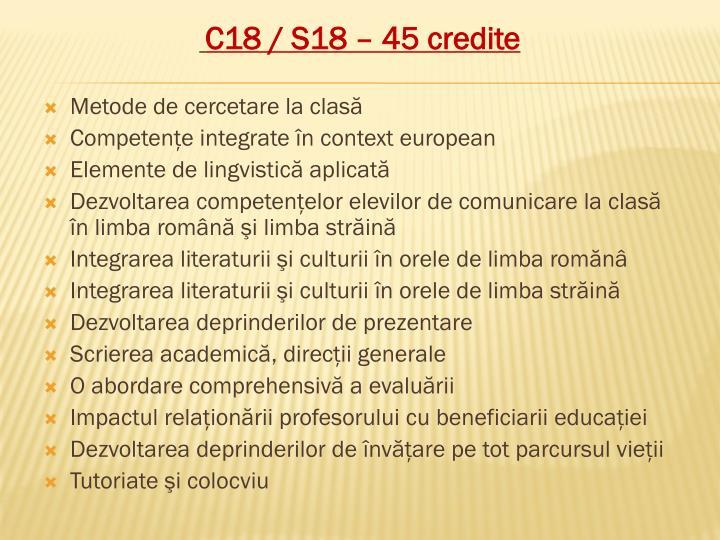C18 / S18 – 45