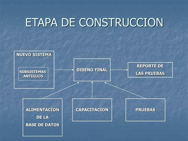 ETAPA DE CONSTRUCCION