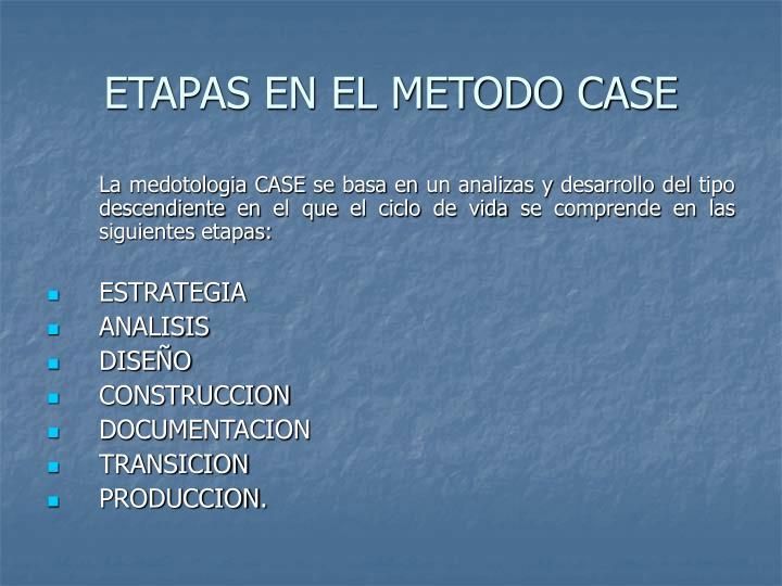 ETAPAS EN EL METODO CASE