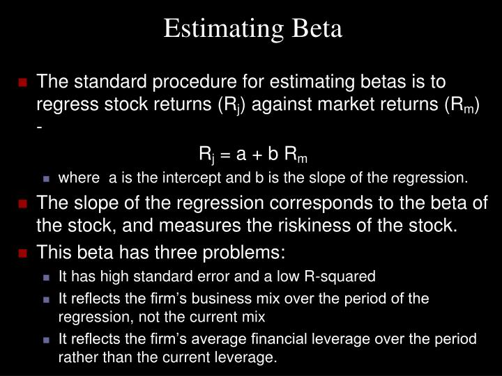 Estimating Beta