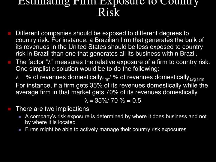 Estimating Firm Exposure to Country Risk