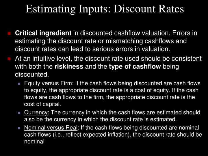 Estimating Inputs: Discount Rates