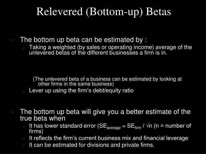 Relevered (Bottom-up) Betas