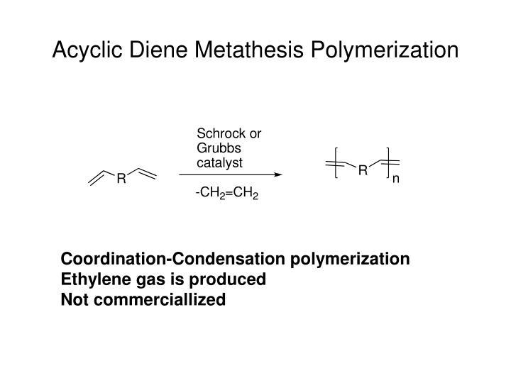 Acyclic Diene Metathesis Polymerization