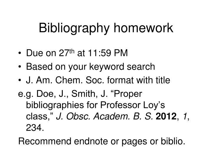 Bibliography homework