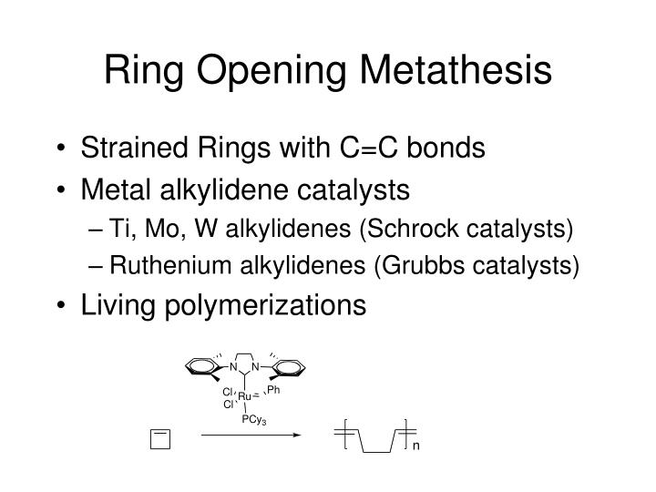 Ring Opening Metathesis