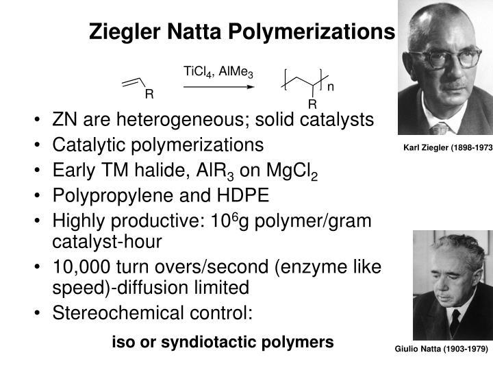 Ziegler Natta Polymerizations