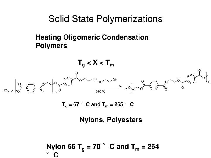 Solid State Polymerizations