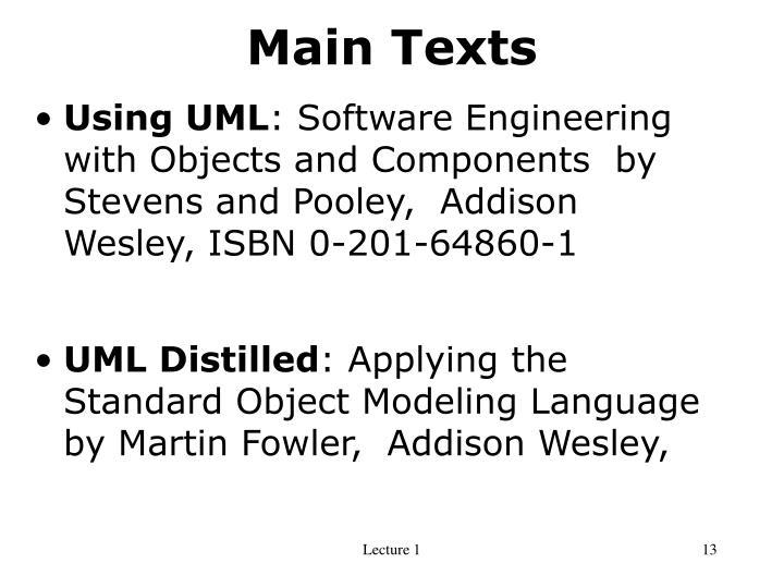 Main Texts