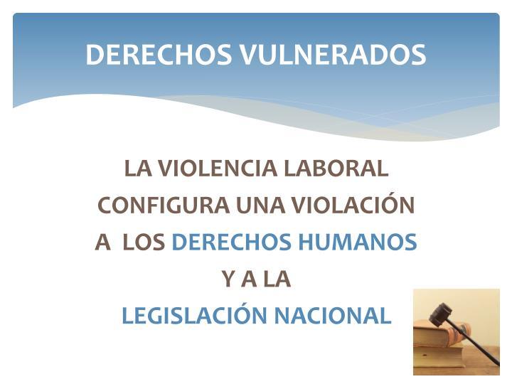 DERECHOS VULNERADOS