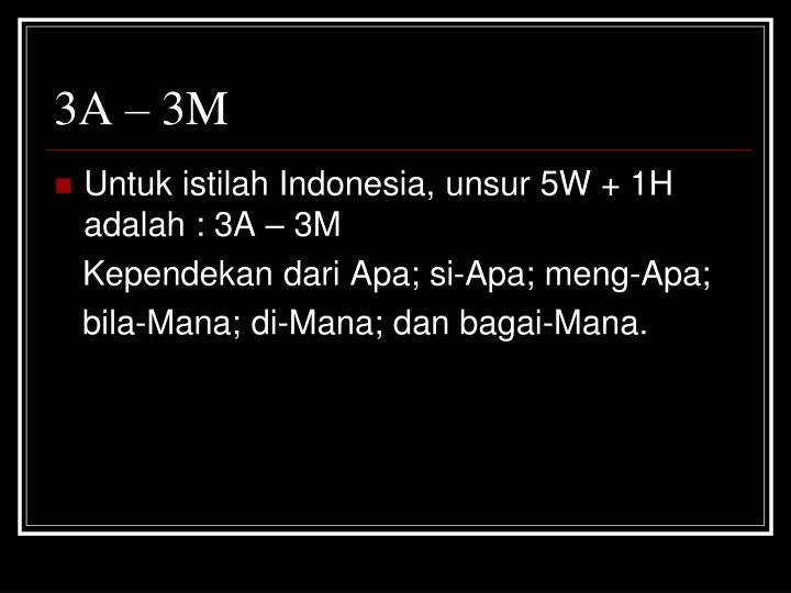 3A – 3M