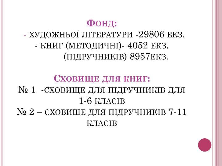Фонд: