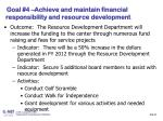 slide 30 goal 4 achieve and maintain financial responsibility and resource development