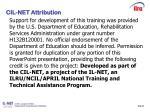 slide 39 cil net attribution