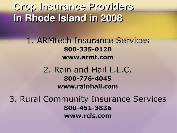 Crop Insurance Providers