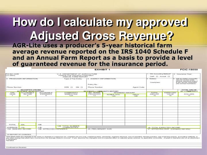 How do I calculate my approved Adjusted Gross Revenue?