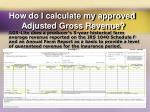 how do i calculate my approved adjusted gross revenue2