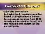 how does agr lite work