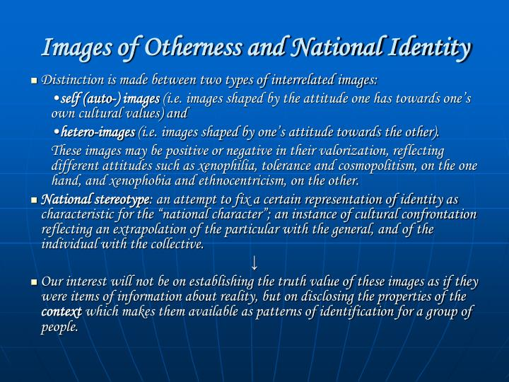Images of Otherness and National Identity